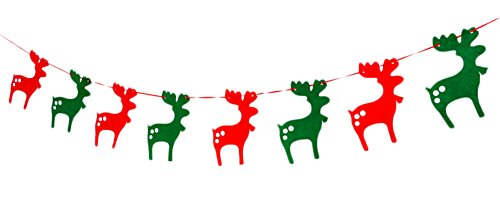 Fablcrew Bannière de Noël Pendaison de Cerfs Drapeau Bannière Ornements pour décoration de Noël Fablcrew