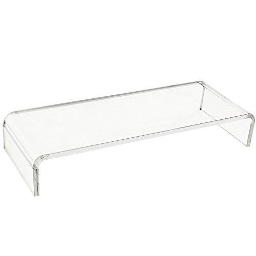 Homcom A2-0075 Monitorständer, Glas, transparent, 53 x 19 x 9 cm (A2 Glas)