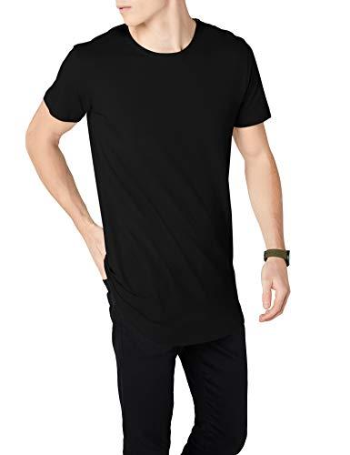 Urban Classics Herren T-Shirt Shaped Long Tee, Schwarz (Schwarz), TB638, L
