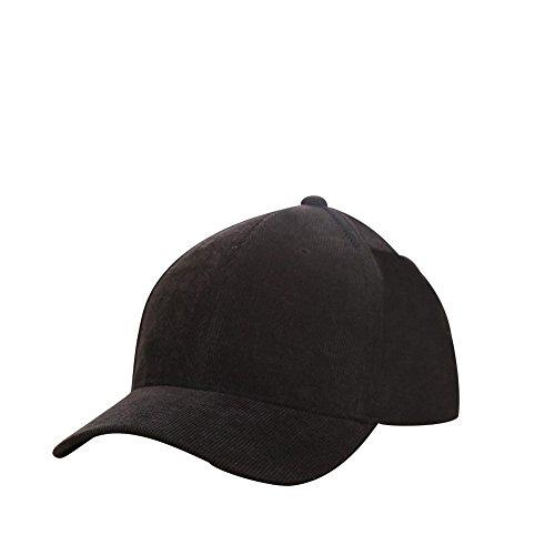 iShine Baseballmütze Unisex Einfarbig Classic Stil Schlicht und Elegant Atmungsaktiv Basecap Damen Herren Sommer Größe Verstellbar Beliebte Bequem für Frauen Mädchen Schwarz (Einstellbare Nfl Hut Golf)