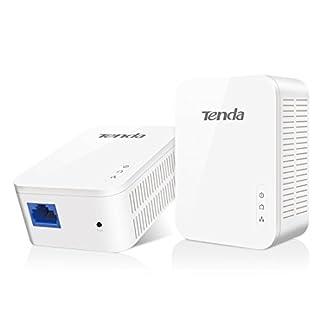 Tenda PH3 1000Mbps Powerline Adapter Kit with Single Port/Home Plug AV2 UK Extender, for fast & stable network expansion, UK Plug Version - Pack of 2