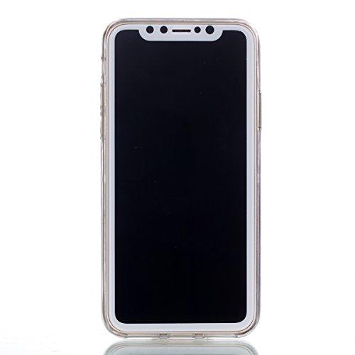 Slynmax Marble Style TPU Cover per iPhone X Custodia Silicone Caso Molle di Morbida Sottile TPU+IMD Gel Transparent Bumper Case Protettiva Caso Chiaro Copertura Slim Thin Skin Shell Protezione per iPh Modello #13