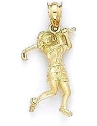 14ct Gold Weiblich Golf Player Anhänger