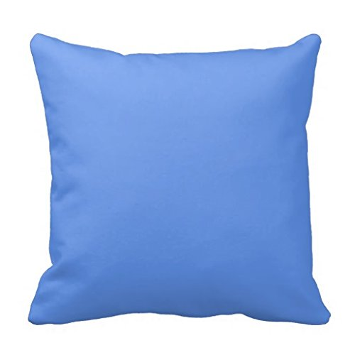 decorative-square-pillow-covers-cushion-case-cornflower-light-blue-solid-trend-color-background-pill