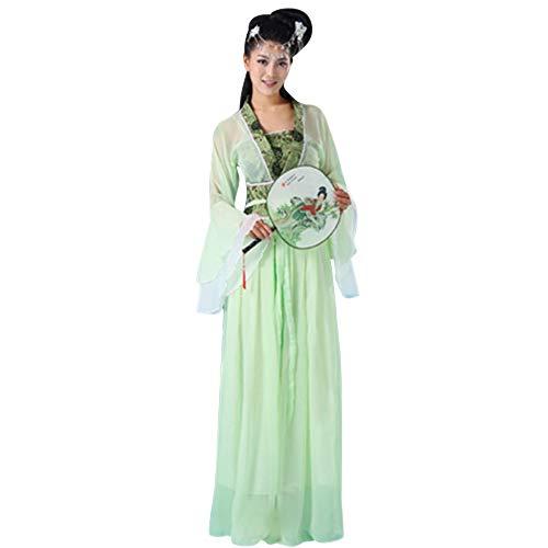 DAZISEN Chinesischer Stil Kostüm - Damen Tang Anzug Retro Hanfu Uralt Chinesisches National Traditionell Klassik Tanzkleidung Aufführungen Kleid, Stil 05, EU M = Tag L (Chinesischen Nationalen Kostüm Frauen)
