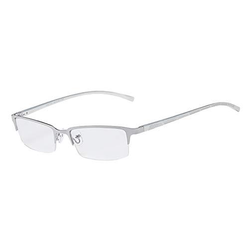 DOLDOA Computer Brille, Optics Brille Damen Herren, HD Gaming Brille - Blaulichtfilter, Anti-Erschöpfung, Blendschutz, UV400 Schutzbrille für Handy/PC/Tablets/Fernseher, Vintage Rechteckiger Rahmen