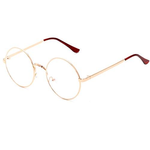 CVOO Retro Glasses Frames Eyeglasses For Women Round Clear Fashion Glasses Men