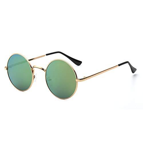 IFMASNN Outdoor, Mode, Trend, Sonnenbrille, rund, flaches Licht, Männer und Frauen, Metall, Retro, Kurzsichtigkeit, Augenschutz, grün