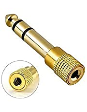 Advent Basics 6.3 mm Stereo Male to 3.5 mm Stereo Female Adapter Converter (Gold)