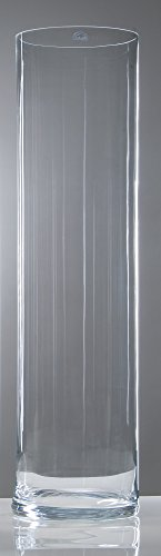 Glass Vase Xxl Cylindrical Clear 105 Cm Ø 25 Cm Cold Cut By Sandra Rich