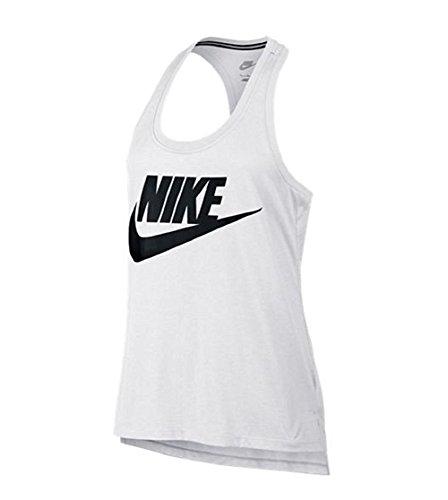 Nike Logo Signal Tank-Canotta da donna (L, bianco/nero)