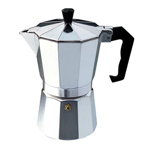 Aluminium-kochfeld Espresso Maker (Fenteer Aluminium Kaffeekocher Herd Espressokocher Espressokanne Espresso Maker für Camping)
