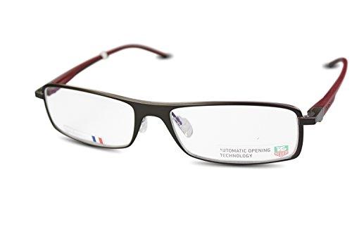 Preisvergleich Produktbild TAG HEUER Metall Brille TH0801 col.006 Braun, Rot