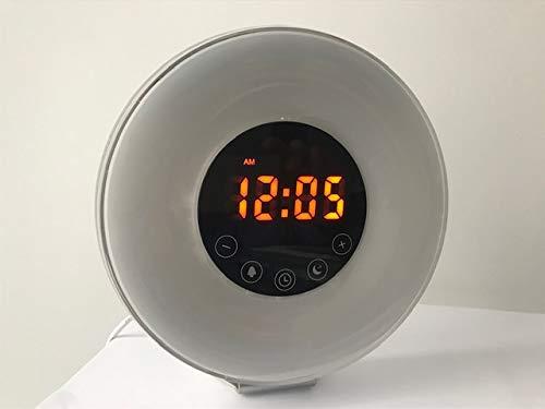 Radio reloj despertador digital FM con simulación de luz natural de amanecer y anochecer |...