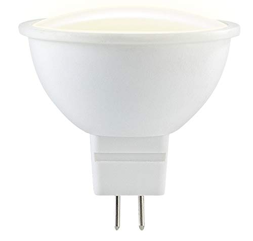 PEARL Gu5.3 LED-Licht: LED-Spot aus High-Tech-Kunststoff, GU5.3, MR16, 5W, 290lm, 6400 K (LED-Lampen Gu5.3) - 75w Mr16-strahler