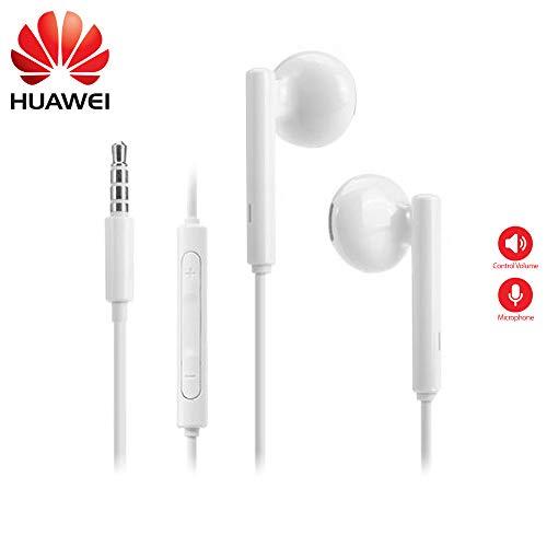 Original Huawei auricular AM de 115 en blanco para Huawei Ascend P9/P8/P7/P6/Lite/Mini/mate 8/mate 7/mate s Auriculares con control de volumen y Micro