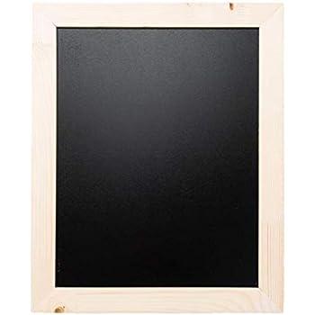 Domus - Home Lavagnetta Cucina in Legno di Abete. Lavagnetta dal Design  Minimal per Scrittura con gessi 49 x 40 cm