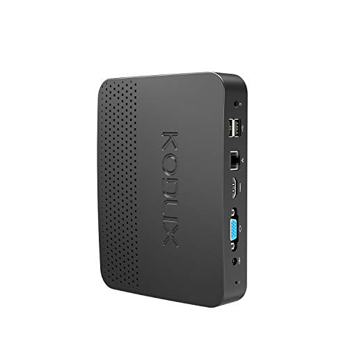 GN41 4K@60Hz Mini PC, Gemini Lake Celeron N4100 Processor, 4GB/64GB DIY M.2 SSD/HDD 1000Mbps LAN HD Dual Band WiFi BT4.0 with HDMI&VGA&USB C Ports, Build NAS, Support WOL