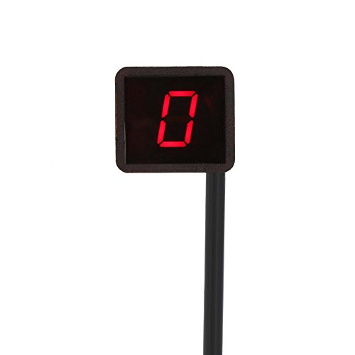 Indicador de marcha digital LED para motocicleta, indicador de marcha universal, indicador...