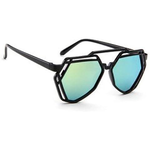 I8Q Donne Premium Quality Vintage Fashion Occhiali da sole Poligono pagina vetri di Sun