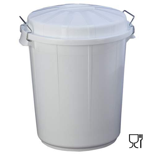 PLASTICOS HELGUEFER - Basurero 95 litros con Tapa Blanco