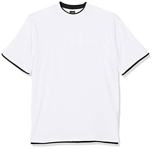 Urban Classics TB029A Herren T-Shirt Contrast Tall Tee Mehrfarbig (Wht/Blk 224), XXXX-Large