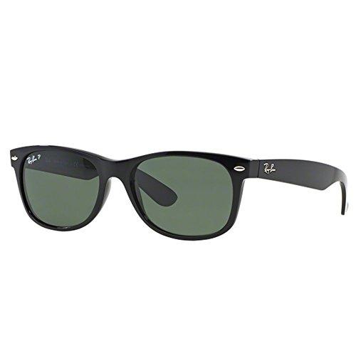 Ray-Ban schwarz polarisierten Green Klassischen G-15 55mm Wayfarer-Platz Sonnenbrillen