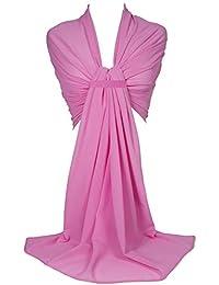 GFM® Scialle elegante, in tessuto georgette, ideale per damigella o come Hijab (GS)