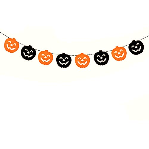 Leisial. Halloween Banner Halloween Dekorationen Trick or Treat Banner Halloween - Party Halloween-Dekoration Banner 16-18CM Pumpkin ()