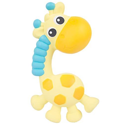 Playgro Jerry Giraffe Beißring und Quietsche Natur 40202 - Ab 0 Monaten - Mehrfarbig