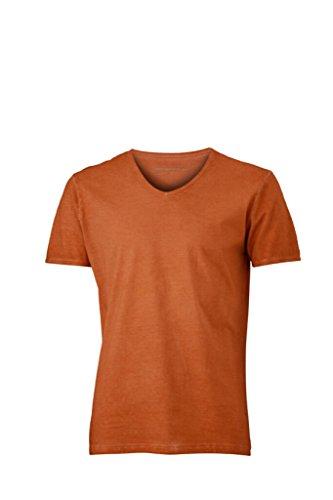 JAMES & NICHOLSON Trendiges T-Shirt mit V-Ausschnitt Terra