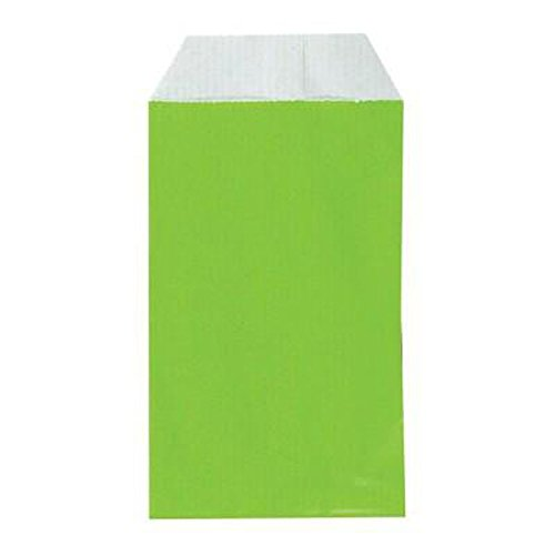 Lotto di 50 buste regalo in carta kraft - Colore: Verde - 12 x 7 cm - Ideale Bijoux