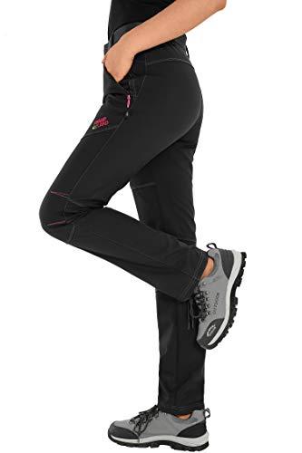 quality design 9c910 1f34c HAINES Pantaloni Trekking Donna Impermeabili Pantalone Softshell Pantaloni  Montagna Abbigliamento Escursionismo Invernali,Stile 1:Nero, Gr. EU-S