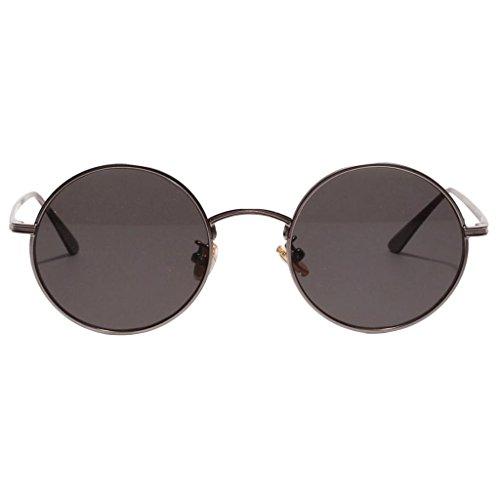 Baoblaze Retro Runde Sonnenbrille Nerdbrille Rundbrille UV 400 Schutz Brille für Reise Party Strand - Hellgrau, wie beschrieben