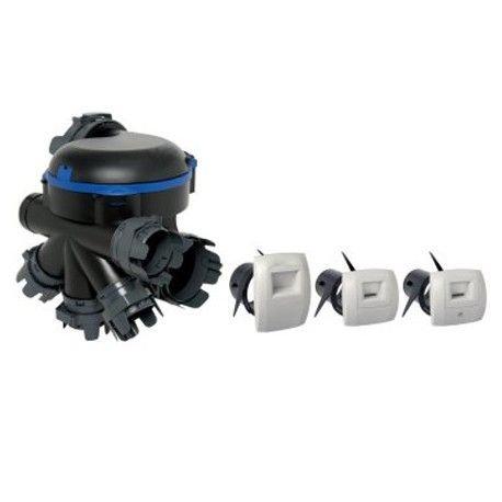 Kit VMC simple flux BAHIA OPTIMA Aldes HygroB 2 à 5 sanitaires 11033217 6 piquages