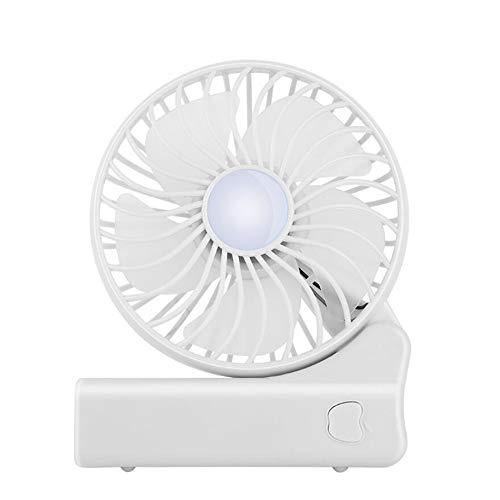 USB Wiederaufladbar - Tragbarer Falt Ventilator persönlicher Kleiner betriebener elektrischer Ventilator 3 Einstellbare Windgeschwindigkeit für das Reisen im Büro im Freien,Weiß ()