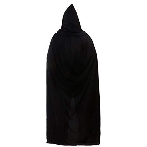 SPFAZJ Halloween Kostüm Erwachsene männliche Hexe Kap Kind Cos Hexe schwarz Reaper Mantel Vampire Magic Mantel (Männliche Vampir Kostüm)