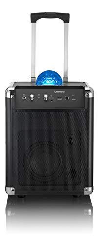 Lenco Mobile PA Sound Anlage PA-325 mit Bluetooth und Discokugel  für Lichteffekte , 40 Watt RMS -