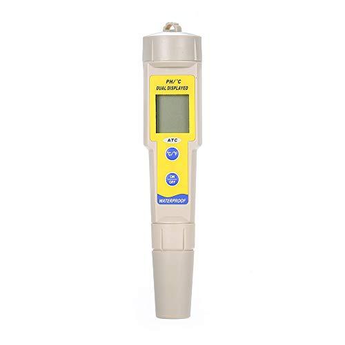 Festnight Stift-pH-Meter Temperatur-pH-Teststift mit automatischer Temperaturkompensationsfunktion Digitaler LCD-pH-Tester Hohe Genauigkeit Wasserqualitätsdetektor -