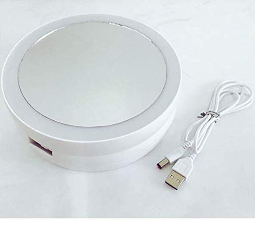 Schminkspiegel 10-fache Vergrößerung doppelseitige Desktop-LED-Licht füllen Licht faltbare tragbare Falt-Tragetasche Kosmetik -