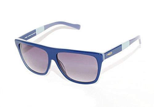 rainbow safety Damen Herren Sonnenbrille MED Limitierte Edition UV400 Schutz Verlaufsglas O1015-BL3