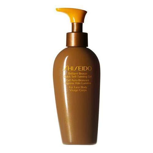 Self-tanning Face Gel (Shiseido Sonnenpflege Self Tan Brillant Bronze Quick Self Tanning Gel 150 ml)