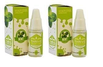 2 X Minze GEDEIHEN - aromatisiert Nr. E-Juice / E-Liquid Nikotin - Qualität garantiert erstklassige Extrakte (0 % NIKOTIN), EshishaKugelschreiberMinen, ElektronischeZigaretten-Flüssigkeit von THRIVE - Flavoured E-Juice