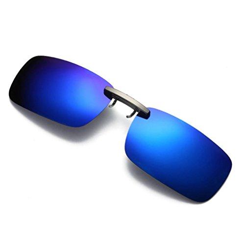 Gafas de sol Polarizadas para para Mujer Hombre❤️LILICAT® Gafas de sol Desmontables de la Lente de la Visión Nocturna, Conducción de Clip Polarizado de Metal Sunglasses (Talla única, Azul)