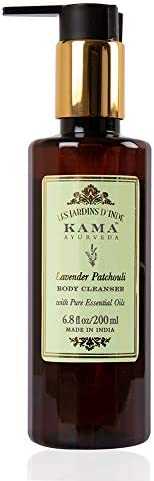 Kama Ayurveda Lavender Patchouli Body Cleanser with Pure Essential Oils of Lavender and Patchouli, 200ml