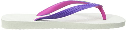 Havaianas Top Mix, Tongs Femme Multicolore (White/Purple / 2650)
