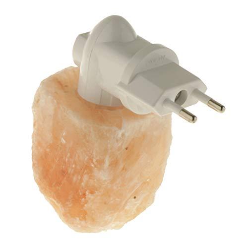 Homyl Nachtlicht Wandleuchte Steckdosenlampe Kristall Salz Lampe für Schlafzimmer, Kinderzimmer, Wohnzimmer, Gang, Flur, usw. - Zylinder - Salz-kristalle