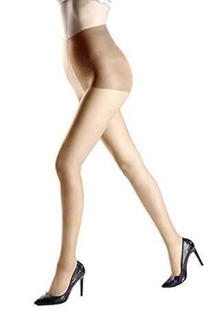 Collant rentrer le ventre et embellir la fesse 15Denier pour des Femmes (L, Couleur Peau)
