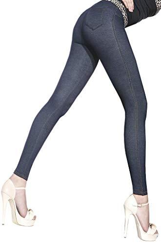 Firstclass Trendstore schöne Leggings in Jeansoptik * Gr. S-XXL * Damenleggings Leggins Damen Hose Jeans-Look (Blanka 900078 XXL)