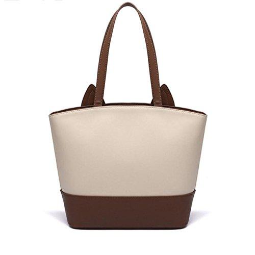 Damen Handtaschen Europa Und Die Vereinigten Staaten Große Taschen Einfache Leder Reißverschluss Umhängetasche Khaki